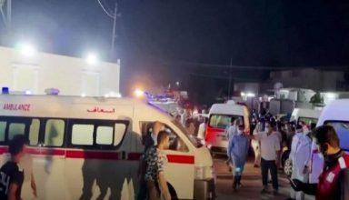कोरोना अस्पताल में ऑक्सीजन टैंक में हुआ धमाका , 82 लोगों की दर्दनाक मौत