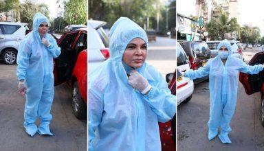 PPE किट पहने Rakhi Sawant का VIDEO हो रहा वायरल,  जानें क्या है पूरा मामला