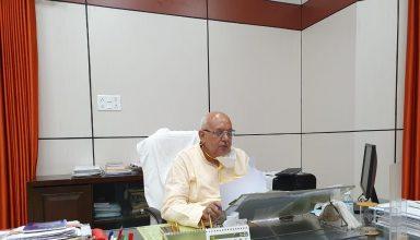 कृषि मंत्री सूर्य प्रताप शाही ने वेबिनार के माध्यम से प्रदेश में गेहूं खरीद की समीक्षा