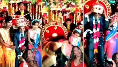 Video: स्टेज पर बैठे दूल्हे को अचानक दुल्हन की बहन करने लगी किस, दुल्हन के उड़े होश