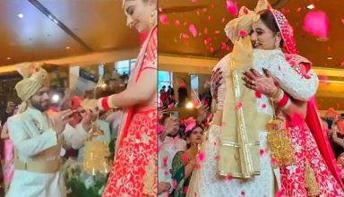 सिंगर राहुल वैद्य और टीवी एक्ट्रेस दिशा परमार ने रचाई शादी, सामने आई शादी की पहली फोटो, जमकर हो रहा वायरल