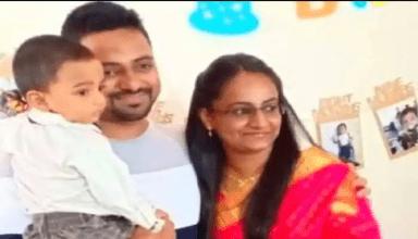 पति-पत्नी और 4 साल के बेटे की सड़क हादसे में मौत, कार की बॉडी काट निकालीं लाशे