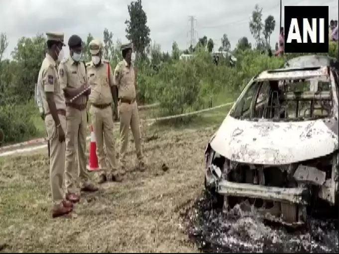 तेलंगाना में पूर्व बीजेपी नेता की जलाकर हत्या, कार की डिग्गी में डालकर लगाया आग, दर्दनाक मौत