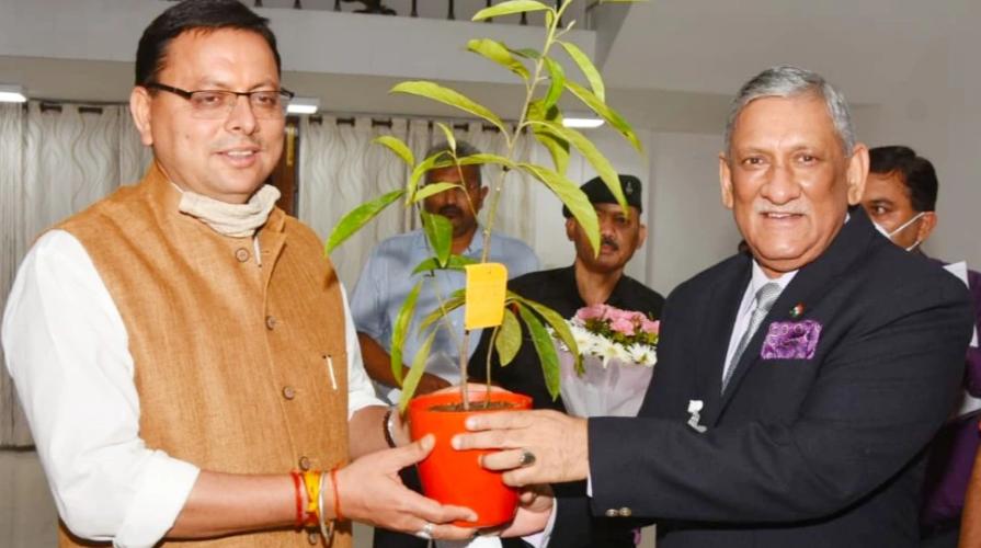 CDS जनरल विपिन रावत ने की CM धामी से मुलाकात, उत्तराखंड के बुनियादी विकास पर हुई चर्चा