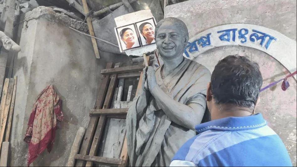 ममता की मूर्ति पर बंगाल में वार, बीजेपी बोली जिस भी राजनेता की पूजा की गई है, वे विनाश की ओर ले गए