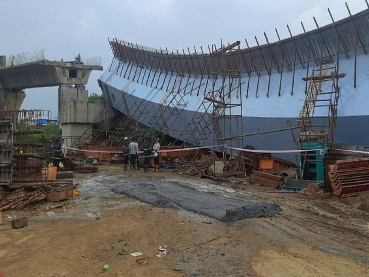 मुंबई: बांद्रा कुर्ला कॉम्प्लेक्स में निर्माणाधीन फ्लाईओवर का हिस्सा गिरा, 14 मजदूर घायल; बचाव कार्य जारी