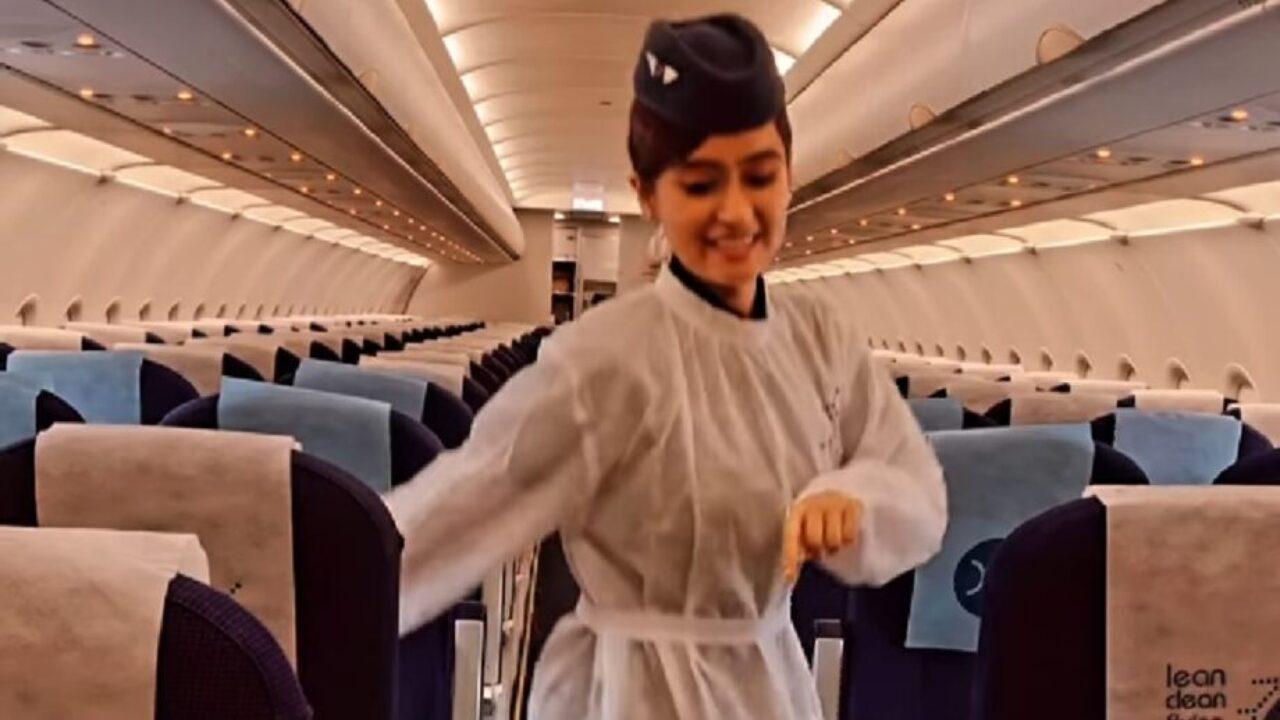 वायरल हुआ इंडिगो एयर होस्टेस का डांसिंग वीडियो, 60 मिलियन से अधिक बार देखा गया, आप भी देखें ये VIDEO